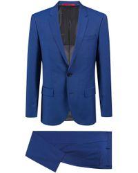 HUGO - Slim-fit Suit In Mohair-look Virgin Wool - Lyst
