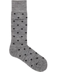 BOSS - Regular-length Dotted Socks In Combed-cotton Blend - Lyst