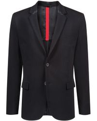 HUGO - Slim-fit Blazer In Stretch Jersey With 3d-effect Structure - Lyst