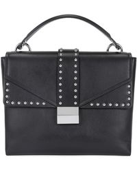 BOSS - Top-handle Bag In Smooth Italian Leather - Lyst