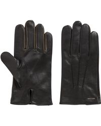BOSS - Nappa-leather Gloves With Colour Contrast - Lyst