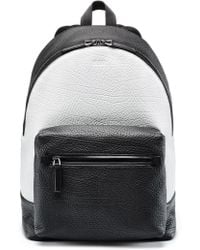 HUGO - Two-tone Backpack In Buffalo-embossed Italian Leather - Lyst