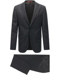 HUGO - Regular-fit Suit In A Textured Virgin Wool Blend - Lyst