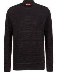 HUGO - Relaxed-fit Jumper In Ottoman-knitted Cotton - Lyst