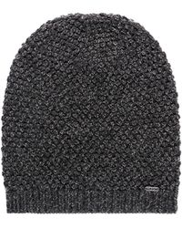 HUGO - Scarf And Hat Gift Set In A Honeycomb Wool-blend Knit - Lyst