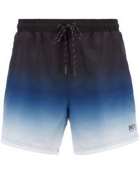 5a489365945df BOSS Swim Shorts 'batfish' In A Quick-drying Material in Gray for ...