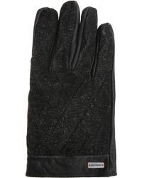 BOSS Orange - Leather Gloves With Fabric Trim: 'galop' - Lyst