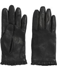 HUGO - Leather Gloves With Flounced Border: 'dh 71' - Lyst