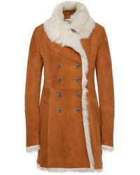 BOSS Orange - Regular-fit Lambskin Coat: 'jomanta' - Lyst