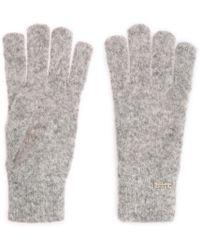 BOSS Orange Mottled Knitwear Gloves In Alpaca Blend With Wool: 'ivlitta'