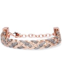 BOSS Orange - Repeatedly Braided Bracelet In Leather: 'melissa' - Lyst