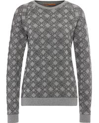 BOSS Orange Regular-fit Printed Sweatshirt In Stretch Viscose Blend With Cotton: 'ticonica'