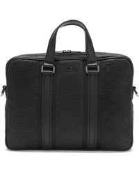 HUGO - 'future_s Doc' | Leather Bag With Mesh Texture - Lyst