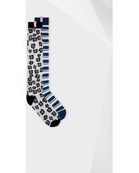 HUNTER - Unisex Original Flower And Stripe Print Knee High Socks (2 Pack) - Lyst