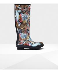 HUNTER - Original Hypernormal Print Tall Rain Boots - Lyst