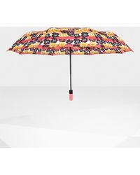 HUNTER - Original Floral Stripe Automatic Compact Umbrella - Lyst
