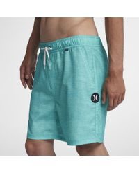 53fd040361694 Hurley Heather Volley Swim Trunks in Blue for Men - Lyst