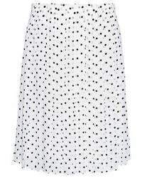 Theory - Lewdill Silk Pleated Polka Dot Skirt - Lyst