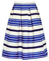 Paul & Joe - Striped Jacquard Pleated Skirt - Lyst