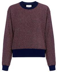 Tanya Taylor - Metallic Knit Palm Sweater - Lyst
