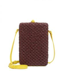 Sophie Anderson - Nappa Leather Hand-knitted Chia Two-toned Box Cross Body Bag - Lyst