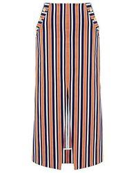 Tanya Taylor - Sahara Stripe Ines Midi Skirt - Lyst