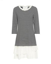 Boutique Moschino - Stripe Ruffle Mini Dress - Lyst