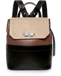 Carven - Full Joy Color-block Suede And Leather Shoulder Strap Backpack - Lyst