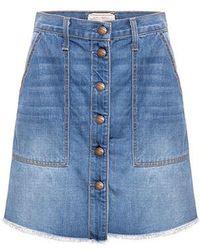 Current/Elliott - The Naval Denim Mini Skirt - Lyst