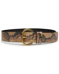 Rachel Comey - Cowhide Estate Snake-print Thin Belt - Lyst