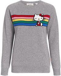 Chinti & Parker - Grey Hello Kitty Stripe Cashmere Sweater - Lyst
