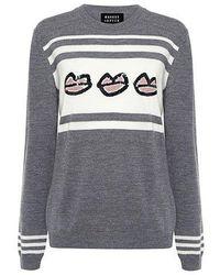 Markus Lupfer - Kisses Sequin Stripe Sweater - Lyst