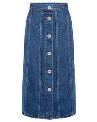 M.i.h Jeans - Simone Denim Midi Skirt - Lyst