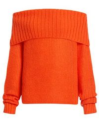 McQ Off-the-shoulder Chunky Knit Sweater