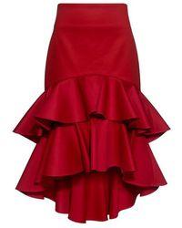 Alexis - Kristyn High-low Layered Ruffled Skirt - Lyst