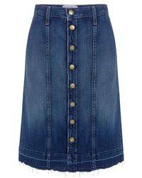Current/Elliott - The Short Sally Denim Skirt - Lyst
