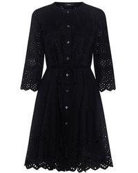 Theory - Kalsingas Eyelet Shirt Dress - Lyst