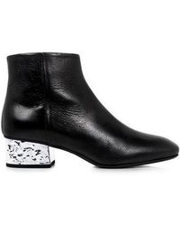 McQ - Shacklewell Foil Heel Ankle Boots - Lyst