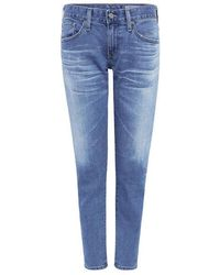 AG Jeans - Nikki Crop Skinny Jeans - Lyst