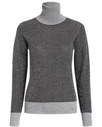 JOSEPH - Metallic Turtleneck Knitted Top - Lyst