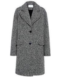 Carven - Oversized Herringbone Tweed Coat - Lyst