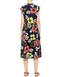 Paul & Joe - Flower Printed Voile Babine Button Dress - Lyst