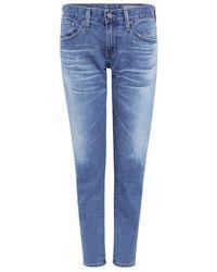 AG Jeans - Nikki Crop Skinny Jeans - Lyst