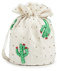 Ganni - Monticello Cactus Dotted Hand Beaded Pouch - Lyst