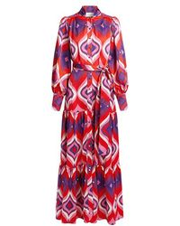 Alexis - Dominica Printed Front Tie Maxi Dress - Lyst