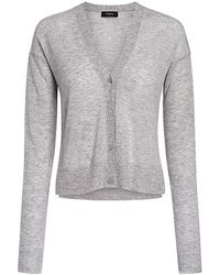 Theory - Cashmere Cropped Cardigan - Lyst