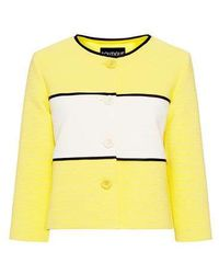Boutique Moschino - Ribbed Stripe Cropped Blazer - Lyst