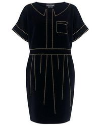Boutique Moschino - Beaded Mini Tunic Dress - Lyst