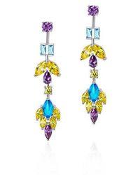 Fallon - Monarch Multi Color Earrings - Lyst