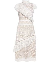 Sea - Awry Lace Ruffle Midi Dress - Lyst